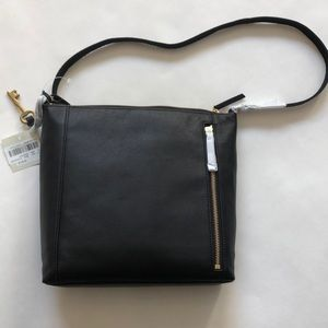 NWT! Fossil Tara leather crossbody bag